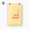 Geist und Esprit versprühte ich nie - Poster Produktbild 1