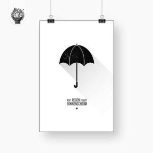 Regenschirm - Auf Regen folgt Sonnenschein Produktbild 1 Poster