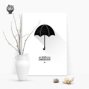 Regenschirm – Auf Regen folgt Sonnenschein