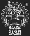 Black Sign Artwork Logo